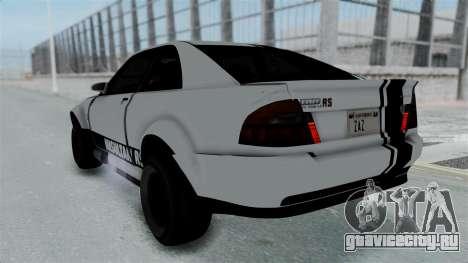 GTA 5 Karin Sultan RS Stock PJ для GTA San Andreas вид сверху