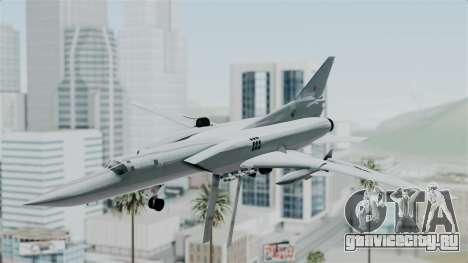 ТУ-22М3 Green для GTA San Andreas вид сзади слева