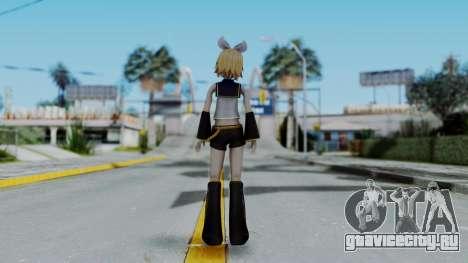 Project Diva F2 - Kagamine Rin (Costume 1) для GTA San Andreas третий скриншот