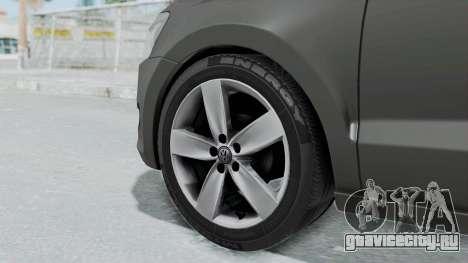 Volkswagen Polo 6R 1.4 HQLM для GTA San Andreas вид сзади слева