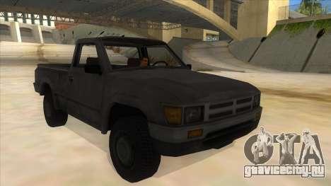 Toyota Hilux Militia для GTA San Andreas вид сзади