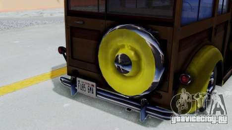 Ford V-8 De Luxe Station Wagon 1937 Mafia2 v1 для GTA San Andreas вид справа