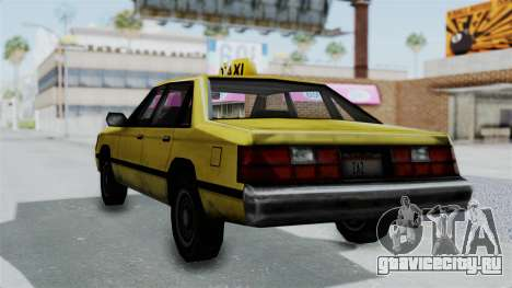 Taxi from GTA Vice City для GTA San Andreas вид слева