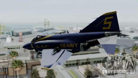 McDonnell Douglas RF-4B Blue Angels для GTA San Andreas вид слева