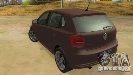 Volkswagen Polo 6R 1.4 для GTA San Andreas вид сзади слева