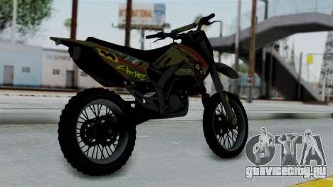 GTA 5 Shrewsbury Sanchez для GTA San Andreas вид слева