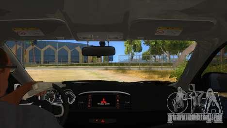 Mitsubishi Lancer Evolution X Koi-chan Itasha для GTA San Andreas вид изнутри