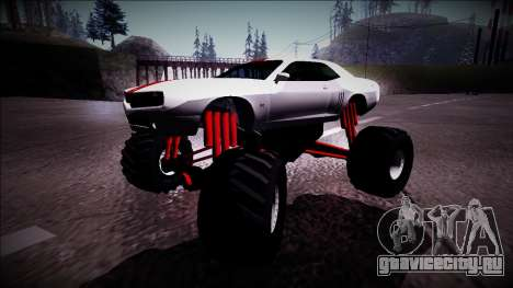 GTA 5 Bravado Gauntlet Monster Truck для GTA San Andreas вид слева