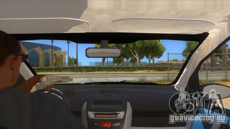 2005 Peugeot 107 V2 для GTA San Andreas вид изнутри