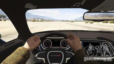 2015 Dodge Challenger для GTA 5 вид сзади