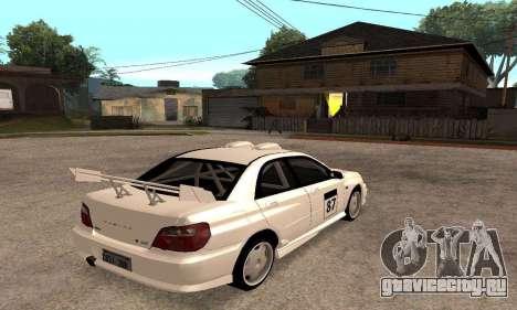 Subaru Impreza WRX STi Tunable для GTA San Andreas вид сверху