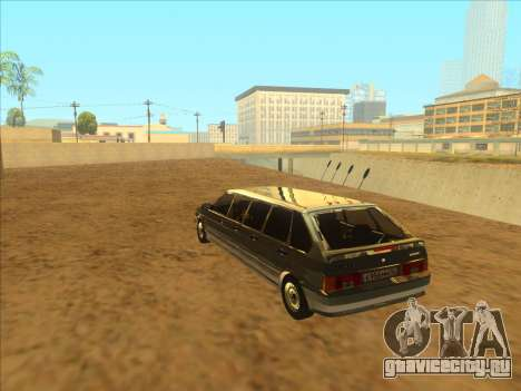 VAZ 2114 9-door для GTA San Andreas вид изнутри