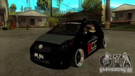 Toyota Yaris (Vitz) [Black Car Community] для GTA San Andreas