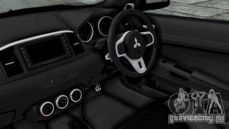 Mitsubishi Lancer Evolution X GSR Full Tunable для GTA San Andreas вид справа