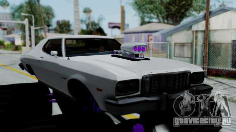Ford Gran Torino Monster Truck для GTA San Andreas вид сзади слева