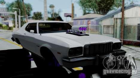 Ford Gran Torino Monster Truck для GTA San Andreas вид сзади слева