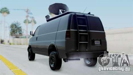 Vapid Speedo Newsvan для GTA San Andreas вид слева