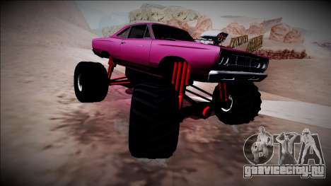 1969 Plymouth Road Runner Monster Truck для GTA San Andreas