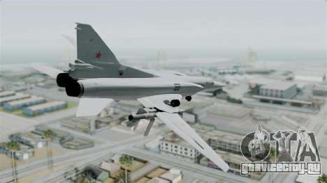 ТУ-22М3 Green для GTA San Andreas вид слева