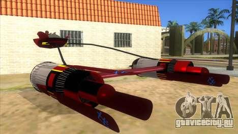 StarWars Anakin Podracer для GTA San Andreas вид сзади