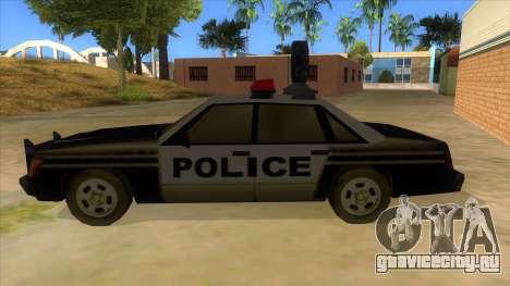 Police Car from Manhunt 2 для GTA San Andreas вид слева