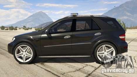 2009 Mercedes-Benz ML63 AMG FBI для GTA 5 вид слева