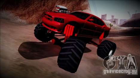2006 Dodge Charger SRT8 Monster Truck для GTA San Andreas вид изнутри