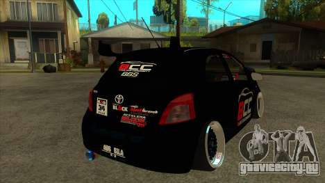 Toyota Yaris (Vitz) [Black Car Community] для GTA San Andreas вид справа