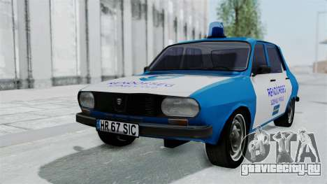 Dacia 1300 Police для GTA San Andreas вид сзади