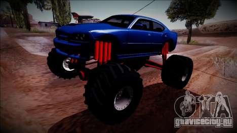 2006 Dodge Charger SRT8 Monster Truck для GTA San Andreas вид сзади