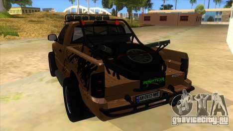 Dodge Ram SRT DES 2012 для GTA San Andreas вид сзади слева