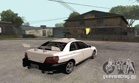 Subaru Impreza WRX STi Tunable для GTA San Andreas вид изнутри