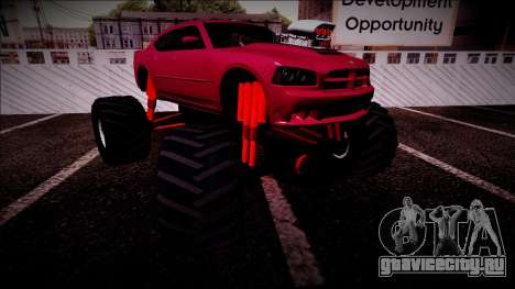 2006 Dodge Charger SRT8 Monster Truck для GTA San Andreas салон