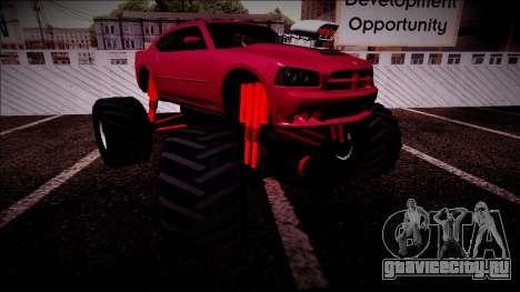 2006 Dodge Charger SRT8 Monster Truck для GTA San Andreas салон