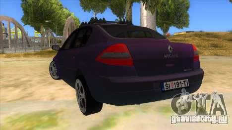Renault MEGANE 2 для GTA San Andreas вид сзади слева