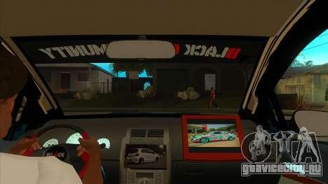 Toyota Yaris (Vitz) [Black Car Community] для GTA San Andreas вид изнутри