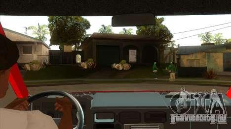 Zastava Daily 35B Special для GTA San Andreas вид изнутри