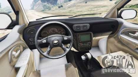 Chevrolet TrailBlazer для GTA 5 вид сзади справа