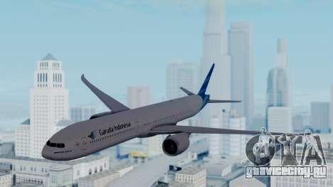 Boeing 777-9U3(X) Garuda Indonesia для GTA San Andreas вид сзади слева