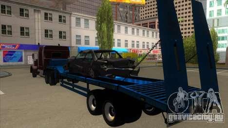 Trailer with Hydaulic Ramps для GTA San Andreas вид сзади