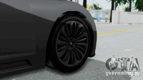 GTA 5 Truffade Adder v2 SA Lights для GTA San Andreas вид сзади слева