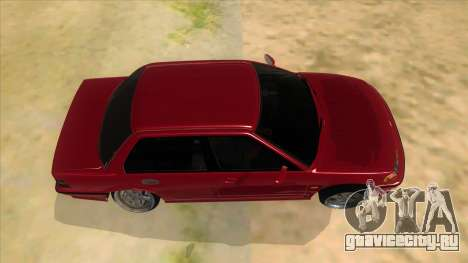 Honda Civic Ef Sedan для GTA San Andreas вид изнутри