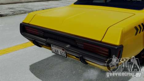 Dodge Polara 1971 Kaufman Cab для GTA San Andreas вид справа