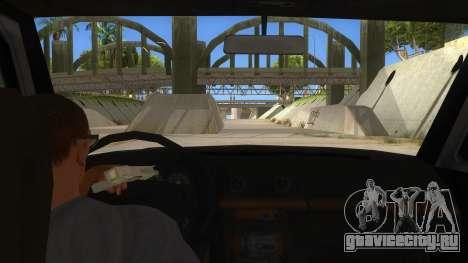 Toyota Hilux Militia для GTA San Andreas вид изнутри