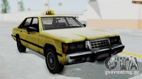 Taxi from GTA Vice City для GTA San Andreas вид сзади слева