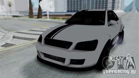 GTA 5 Karin Sultan RS Stock PJ для GTA San Andreas вид сбоку