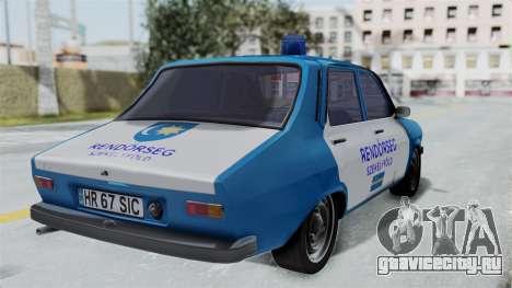Dacia 1300 Police для GTA San Andreas вид слева