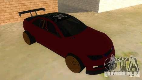 GTA V Sentinel RS MKII для GTA San Andreas вид сзади