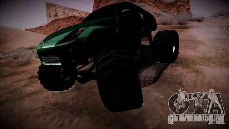 Nissan 350Z Monster Truck для GTA San Andreas вид сзади слева