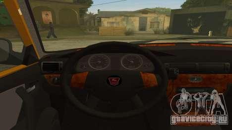 ГАЗ 31105 Волга Такси IVF для GTA San Andreas вид справа